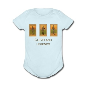 1900's Cleveland Baseball Legends Baby Short Sleeve One Piece - Short Sleeve Baby Bodysuit