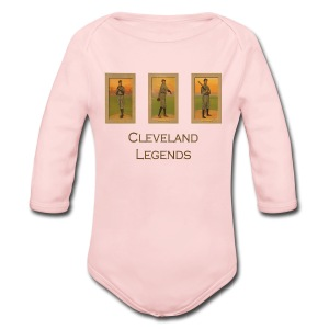 1900's Cleveland Baseball Legends Baby Long Sleeve One Piece - Long Sleeve Baby Bodysuit