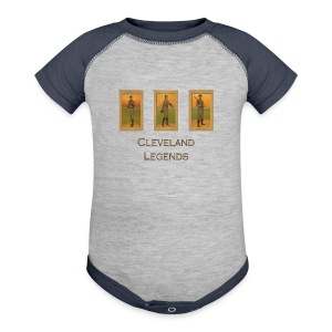 1900's Cleveland Baseball Legends Baby Contrast One Piece - Baby Contrast One Piece