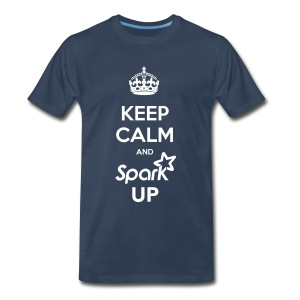 Keep Calm and Spark Up (Unisex Premium) - Men's Premium T-Shirt