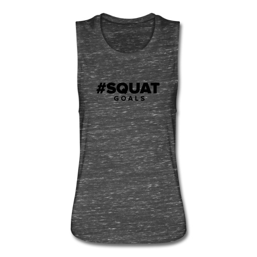 Squat Goals Green Sleeveless Tee - Women's Flowy Muscle Tank by Bella