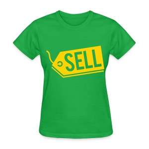 Sell! Kelly green tee (women's) - Women's T-Shirt