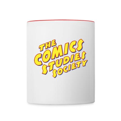 Comics Studies Society Mug: Red Handle - Contrast Coffee Mug