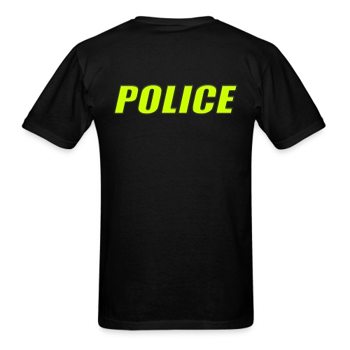Police High-Vis on  Black - Men's T-Shirt