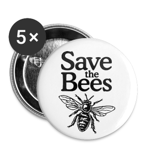 Save the Bees (bicolor) Buttons (Small) - Small Buttons