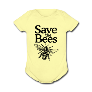 Save the Bees Baby One Piece - Short Sleeve Baby Bodysuit