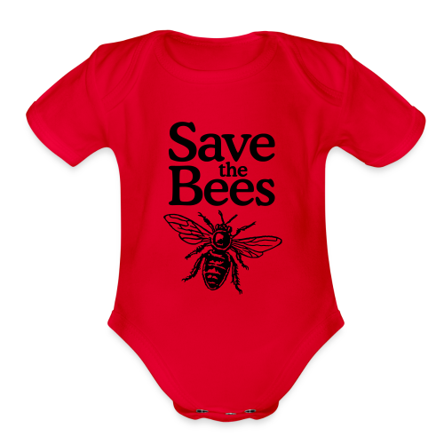 Save the Bees Baby One Piece - Organic Short Sleeve Baby Bodysuit
