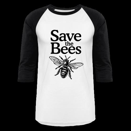 Save the Bees Baseball T-Shirt - Baseball T-Shirt