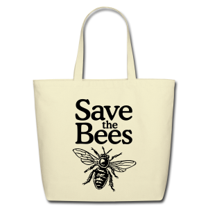 Save the Bees Cotton Tote - Eco-Friendly Cotton Tote