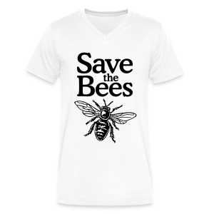 Save the Bees V-Neck T-Shirt - Men's V-Neck T-Shirt by Canvas