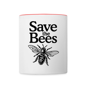 Save the Bees Mug - Contrast Coffee Mug