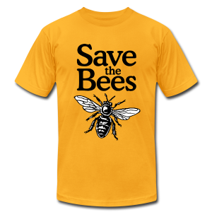 Save The Bees (bicolor) AA T-Shirt - Men's T-Shirt by American Apparel