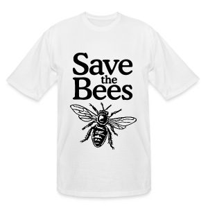 Save The Bees (bicolor) Tall T-Shirt - Men's Tall T-Shirt