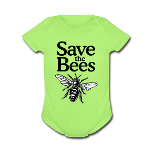 Save The Bees (bicolor) Baby One Piece - Short Sleeve Baby Bodysuit