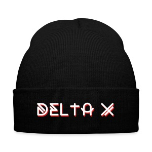 Title Beanie - Knit Cap with Cuff Print
