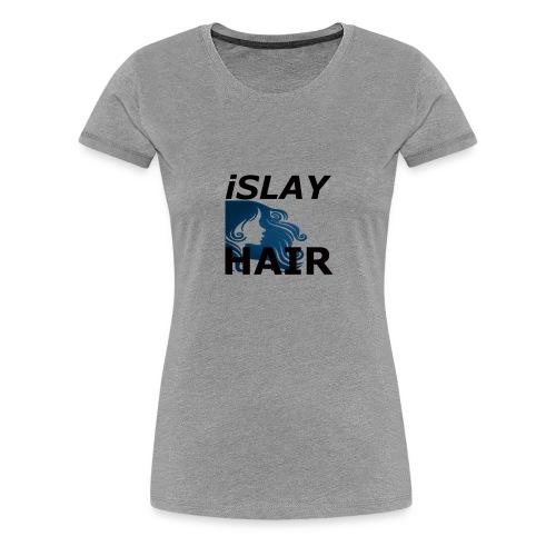 iSlay Hair Women's Fitted Tee Heather Grey - Women's Premium T-Shirt