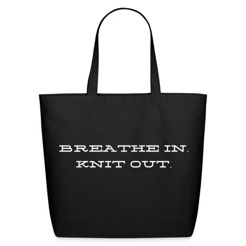 Breath in Knit Out Tote - Eco-Friendly Cotton Tote