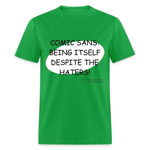 Comic Sans GREEN - Men's T-Shirt