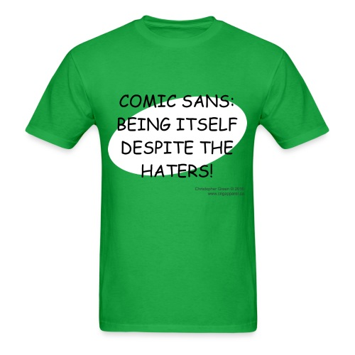 Comic Sans GREEN - Men's T-Shirt