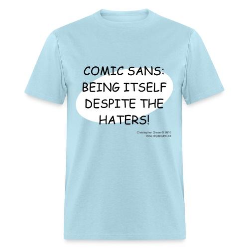 Comic Sans BLUE - Men's T-Shirt