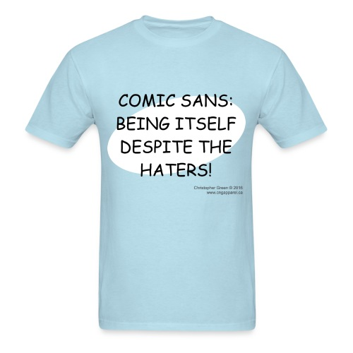 Comic Sans BLUE - Men's T-Shirt
