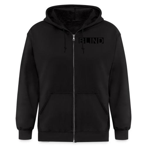 BLIND blk hoodie - Men's Zip Hoodie