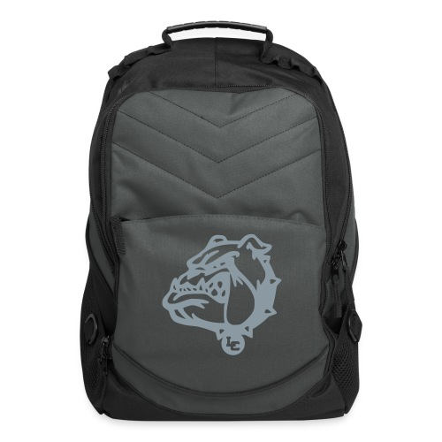 Computer Backpack with Metallic Silver LC Bulldog - Computer Backpack
