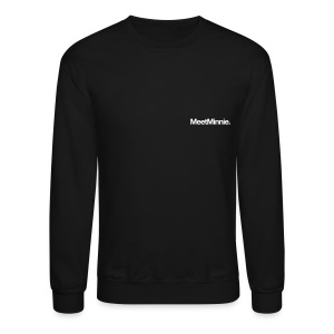 MeetMinnie small logo sweatshirt | black - Crewneck Sweatshirt