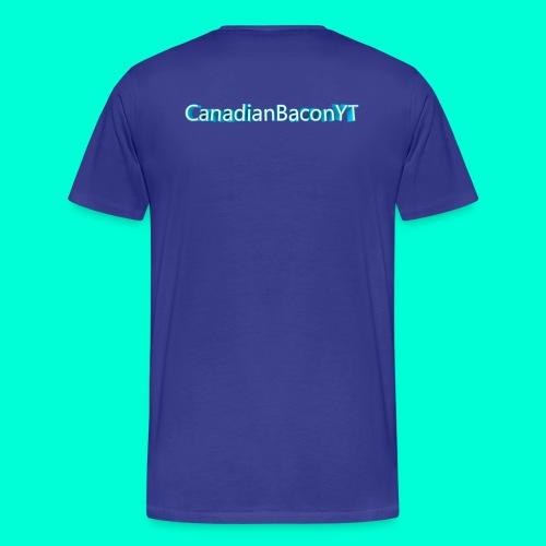 Men's CanadianBaconYT Back Logo T-Shirt - Men's Premium T-Shirt