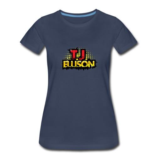 T.J. ELLISON® - Navy Women's Premium T-Shirt with Logo  - Women's Premium T-Shirt