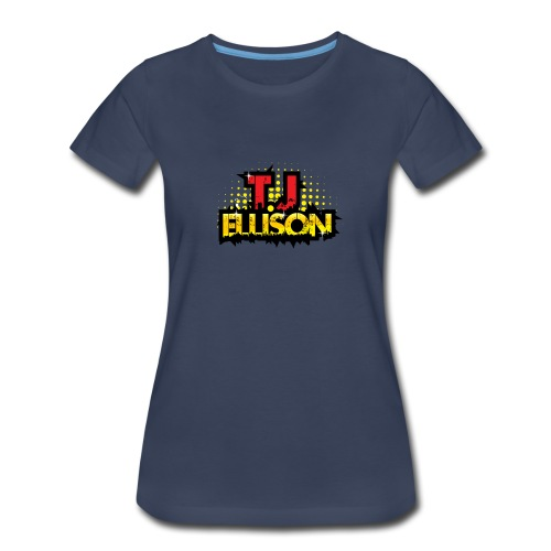 T.J. ELLISON® - Navy Women's Premium T-Shirt with Logo  - Women's Premium T-Shirt