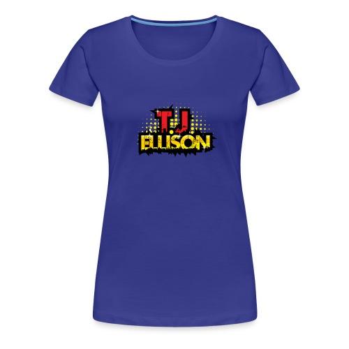 T.J. ELLISON® - Royal Blue Women's Premium T-Shirt with Logo  - Women's Premium T-Shirt