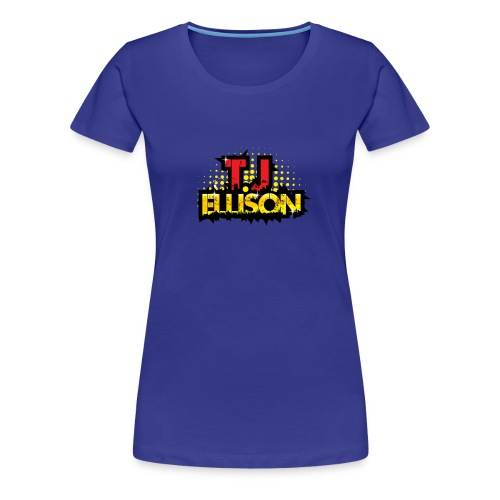 T.J. ELLISON® - Royal Blue Women's Premium T-Shirt with Logo  - Women's Premium T-Shirt