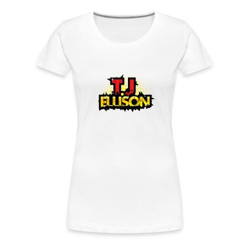 T.J. ELLISON® - White Women's Premium T-Shirt with Logo  - Women's Premium T-Shirt