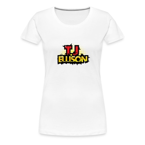 T.J. ELLISON® - White Women's Premium T-Shirt with Logo  - Women's Premium T-Shirt