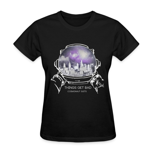 (Inverted Color) - Things Get Bad Album Cover Women's T-Shirt - Cosmonaut Suits - Women's T-Shirt