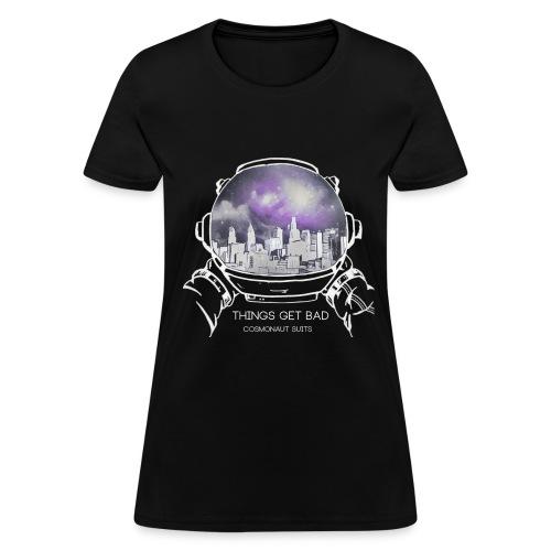 (Inverted Color) - Things Get Bad Album Cover Women's T-Shirt - Cosmonaut Suits - Women's T-Shirt