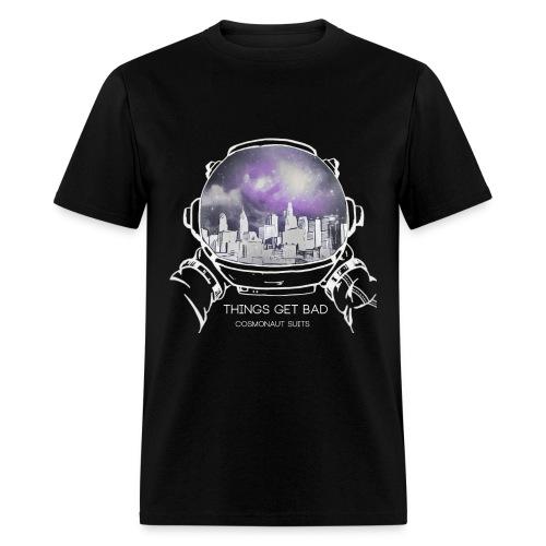 (Inverted Color) - Things Get Bad Album Cover Men's T-Shirt - Cosmonaut Suits - Men's T-Shirt