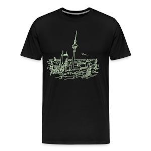 Panorama of Berlin (glows in dark) - Men's Premium T-Shirt