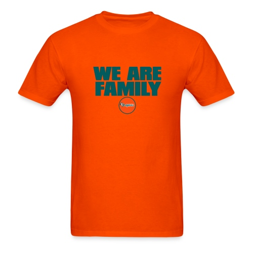 We Are Family Dolphins (Orange) - Men's T-Shirt