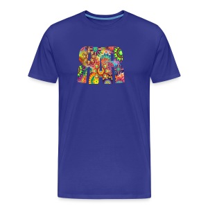 RAR Abstract Pattern Men's T-shirt - Men's Premium T-Shirt