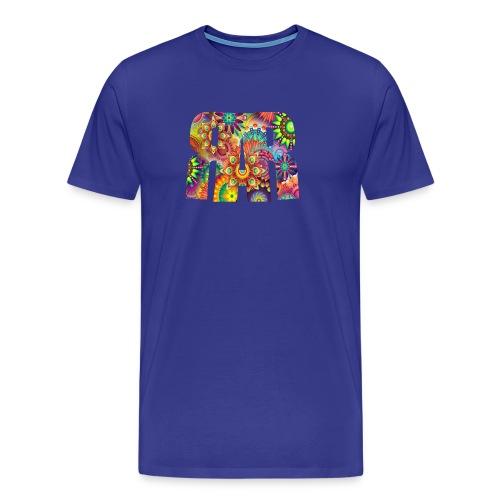 RAR Abstract Pattern Men's T-shirt - Men's Premium T-Shirt