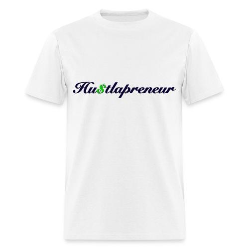 Men's White Hustlapreneur Tee - Men's T-Shirt