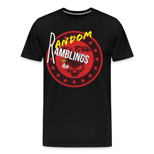 Random Ramblings w/Rob logo - Men's Premium T-Shirt