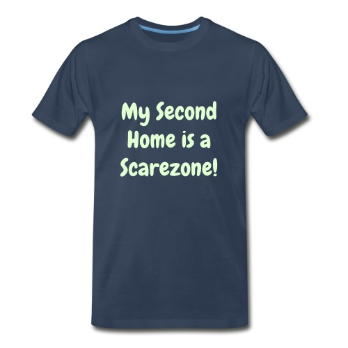 Glow-in-the-dark exclusive 'My Second Home is a Scarezone' - Men's Premium T-Shirt