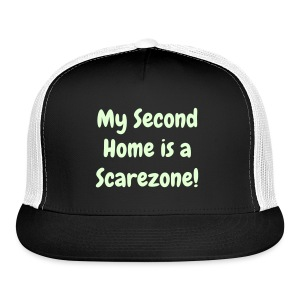 Glow-in-the-dark exclusive 'My Second Home is a Scarezone' - Trucker Cap