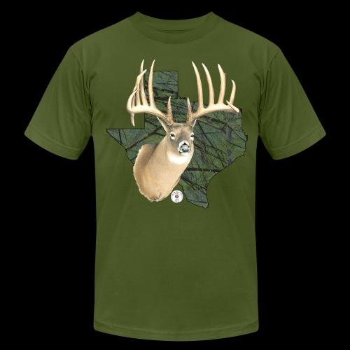 Texas Buck Camo - Men's Fine Jersey T-Shirt