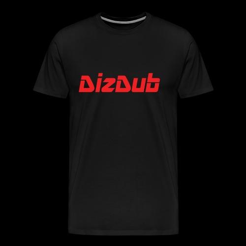 DizDub Red Logo Premium Tee - Men's Premium T-Shirt