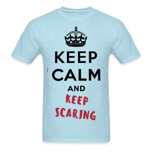 Keep calm and keep scaring  - Men's T-Shirt