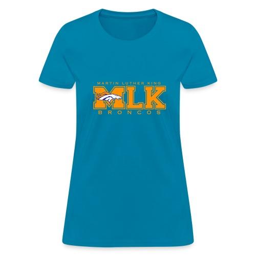MLK Broncos (Women) Teal - Women's T-Shirt